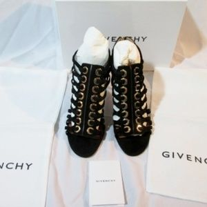 NEW Womens GIVENCHY Suede Leather High Heel Sandal